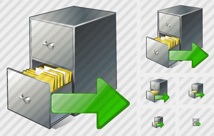 Icone Document Box Export