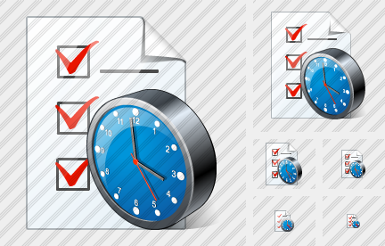 Document Task Clock Icon