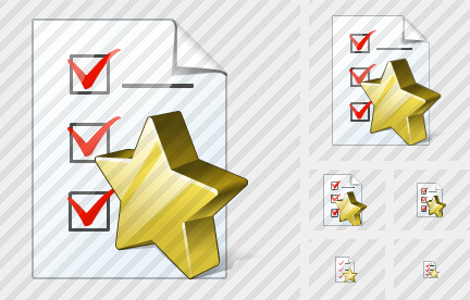 Document Task Favorite Icon