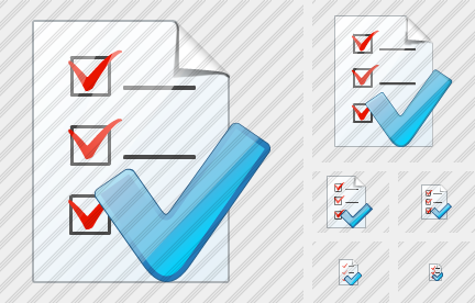 Document Task Ok Icon
