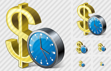 Icone Dollar Clock