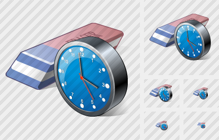 Icone Eraser Clock