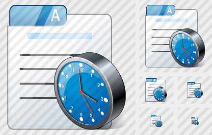 File Card Clock Icon