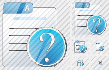 File Card Question Icon
