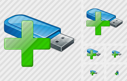 Flash Drive Add Icon