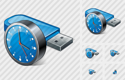 Icone Flash Drive Clock