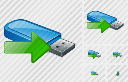 Icone Flash Drive Export