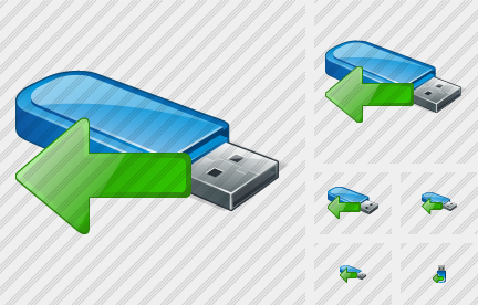 Flash Drive Import Icon