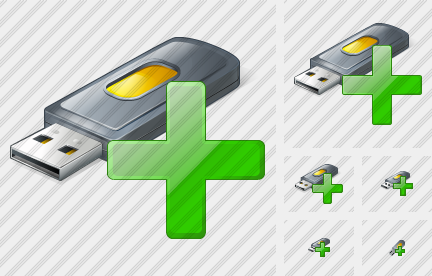 Flash Drive2 Add Icon
