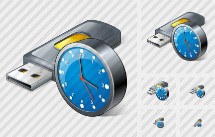 Flash Drive2 Clock Icon