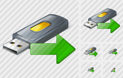 Flash Drive2 Export Icon