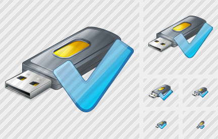 Flash Drive2 Ok Icon