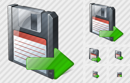 Floppy Disk Export Icon