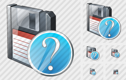 Floppy Disk Question Icon