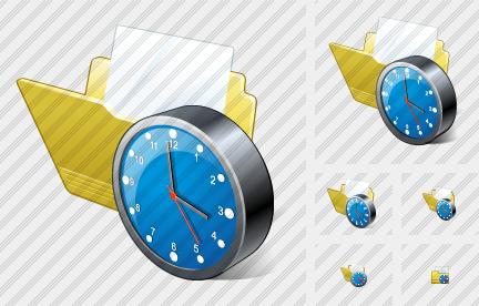 Icone Folder Document Clock