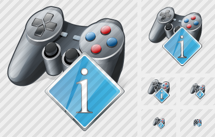 Icone Gamepad Info