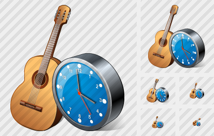 Icone Guitar Clock
