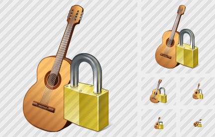 Guitar Locked Icon