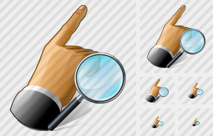 Hand Search 2 Icon