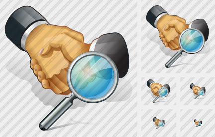 Handshake Search Icon