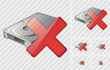 Hard Disk Delete Icon