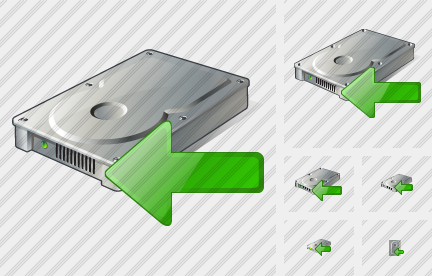 Hard Disk Import Icon