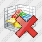 3D Graph Delete Icon