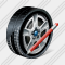Car Wheel Edit Icon