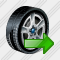 Car Wheel Export Icon