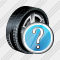 Car Wheel Question Icon