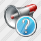 Megaphone Question Icon