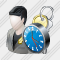 User Administrator Clock Icon