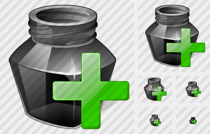Ink Pot Add Icon