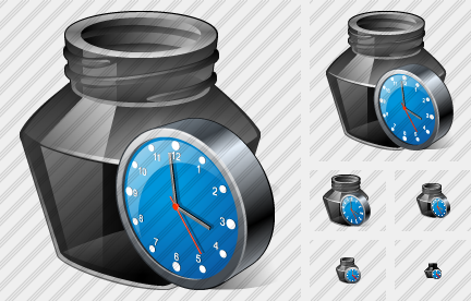 Ink Pot Clock Icon