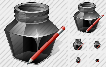Icone Ink Pot Edit