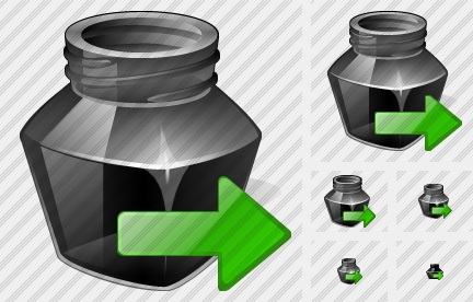 Ink Pot Export Icon
