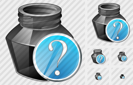 Ink Pot Question Icon