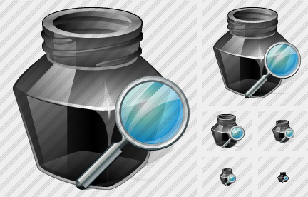 Ink Pot Search Icon