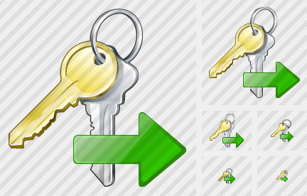 Keys Export Icon