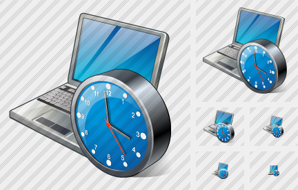 Laptop Clock Icon