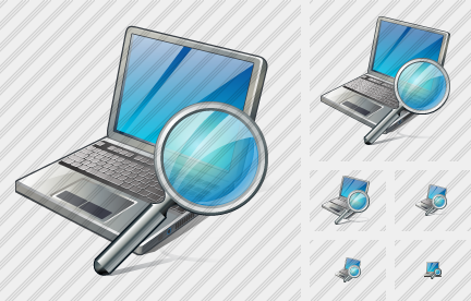 Laptop Search Icon