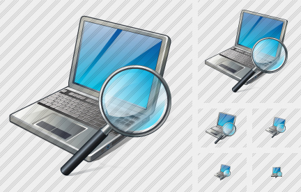 Laptop Search 2 Icon
