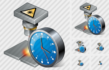 Laser Beam Clock Icon