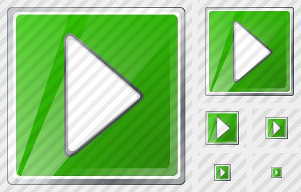Media Play Green Icon