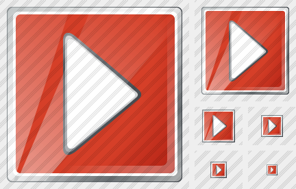 Media Play Red Icon