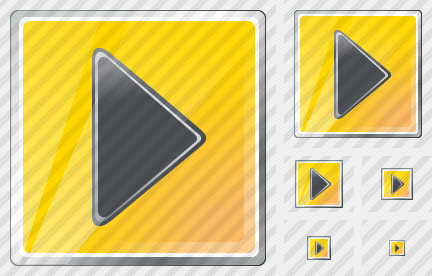 Media Play Yellow Black Icon