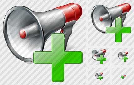 Megaphone Add Icon