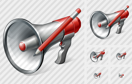 Megaphone Edit Icon