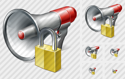 Megaphone Locked Icon