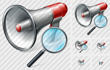 Megaphone Search 2 Icon